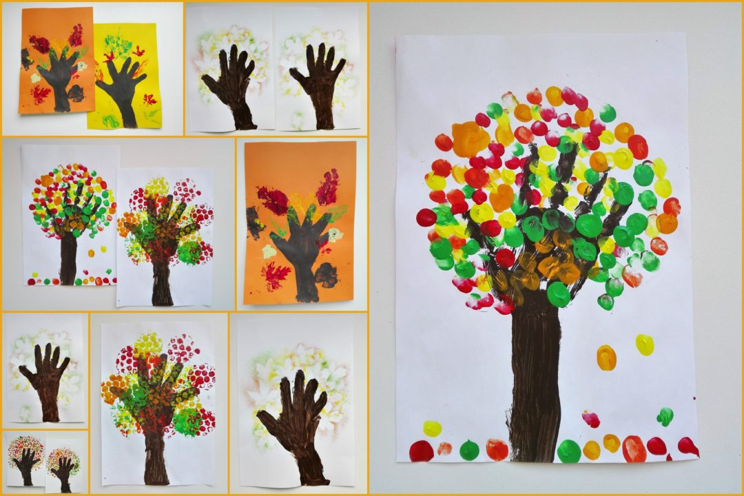 5 Handprint Colorful Fall Trees Ideas Our Swiss Experience